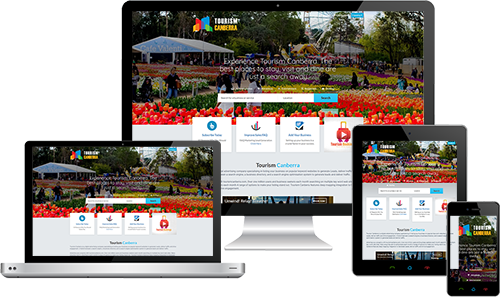 Tourism Canberra displayed beautifully on multiple devices